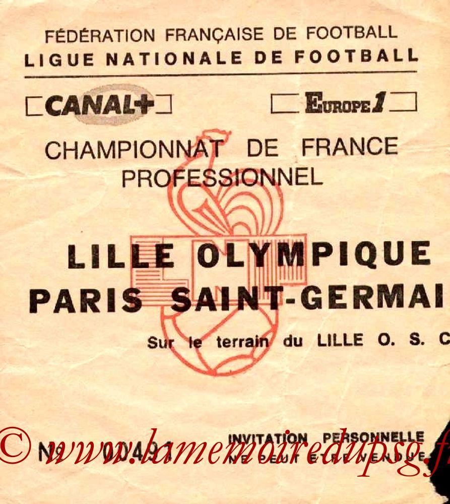 1986-01-22  Lille-PSG (20ème D1, Match en retard, Invitation)