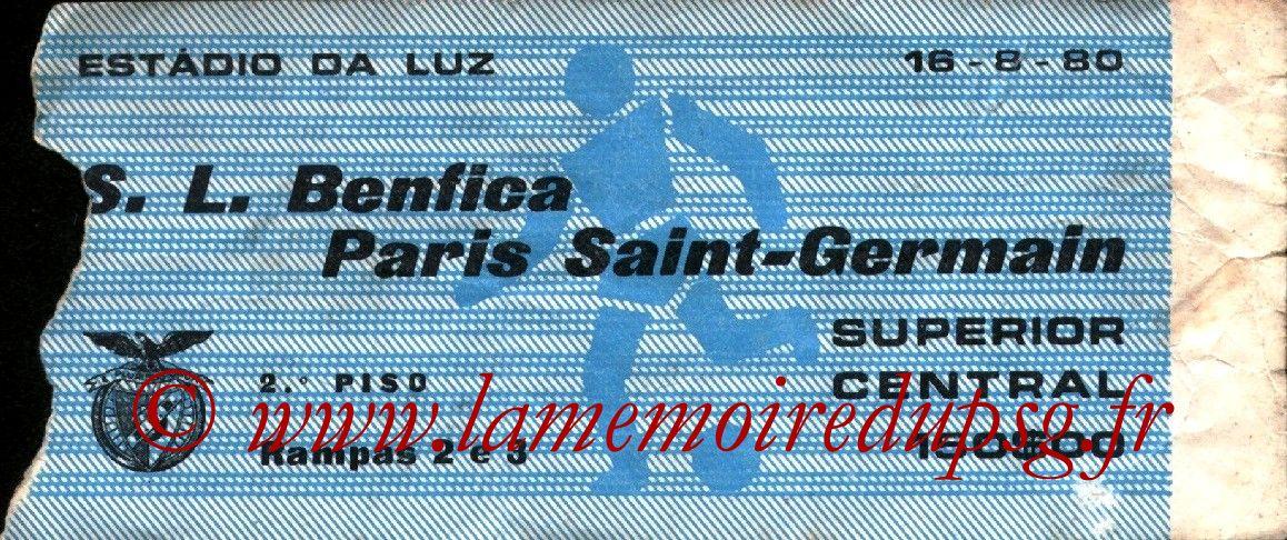 1980-08-16  Benfica-PSG (Amical à Lisbonne)