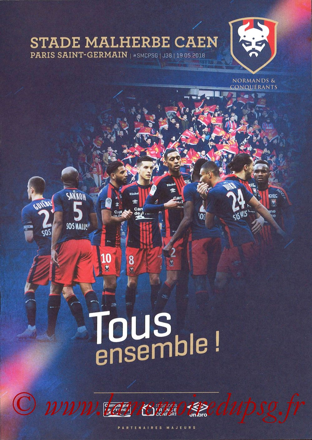 2018-05-19  Caen-PSG (38ème L1, Programme officiel)