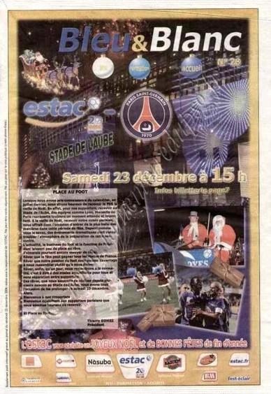 2006-12-23  Troyes-PSG (19ème L1, Bleu et Blanc N°28)