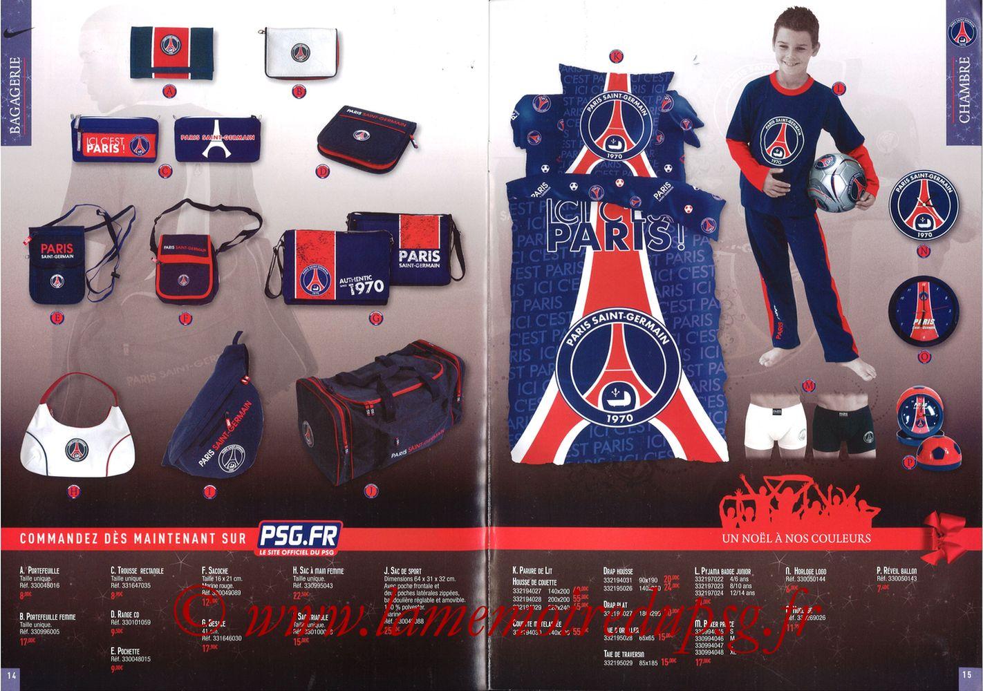 Catalogue PSG - 2008-09 - Noêl - Pages 14 et 15