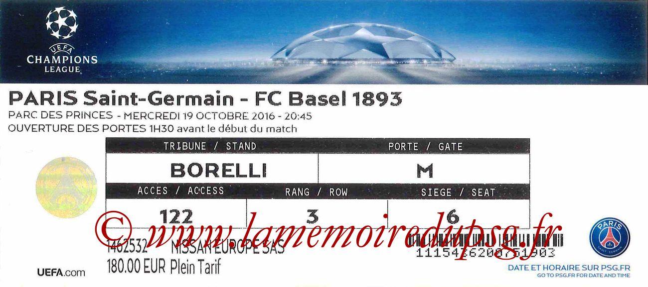2016-10-19  PSG-FC Bale (3ème C1)