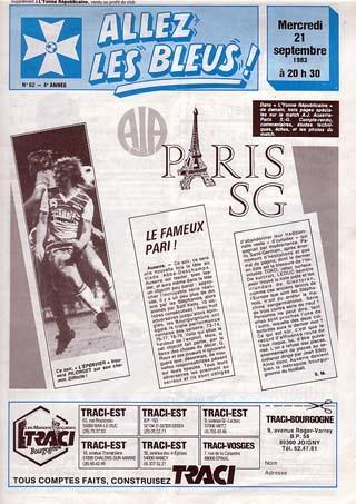 1983-09-21  Auxerre-PSG (10ème D1 Allez les Bleus N°62)