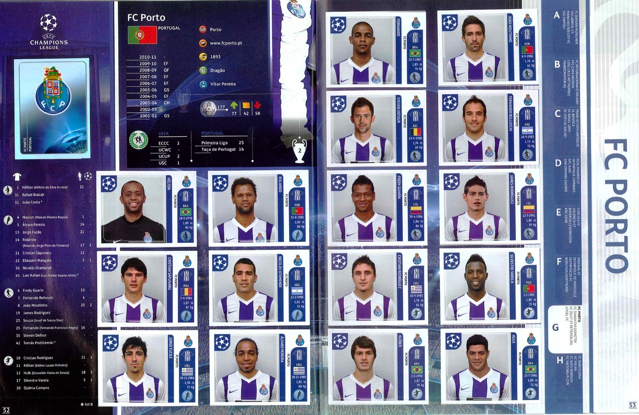2011-12 - Panini Champions League - Pages 52 et 53 - FC Porto