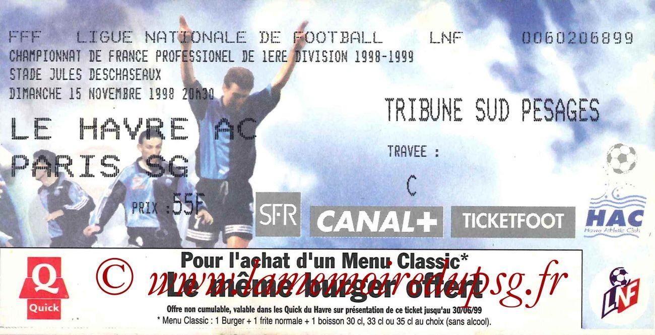 1998-11-15  Le Havre-PSG (14ème D1)