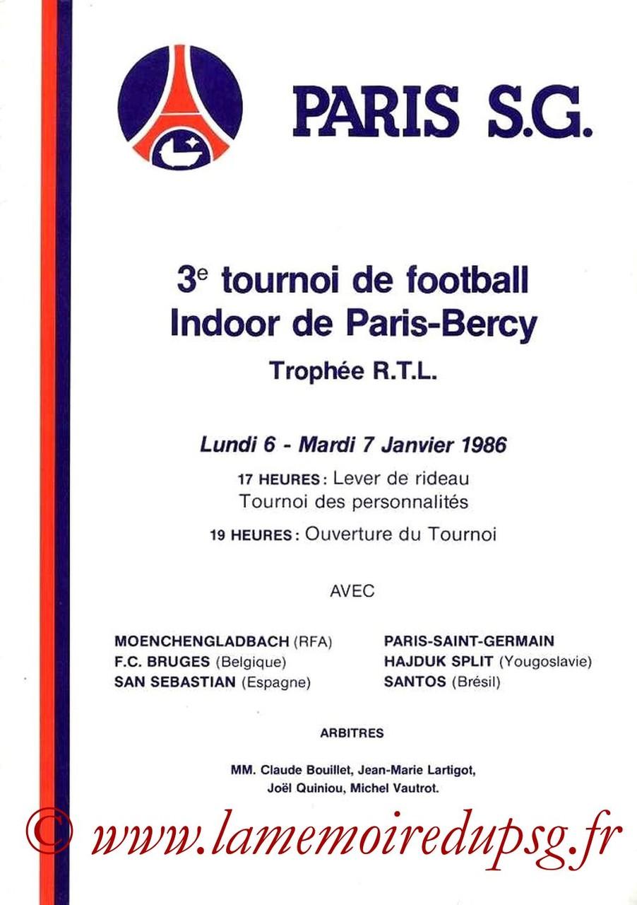 1986-01-06 et 07 3ème Tournoi indoor de Bercy (Programme Officiel)