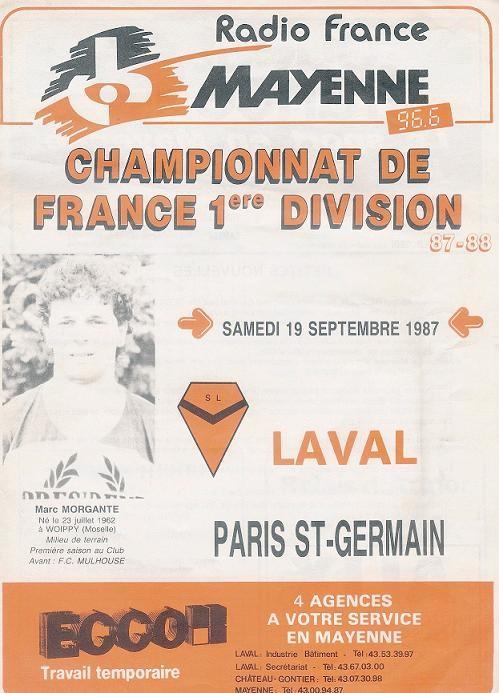 1987-09-19  Laval-PSG (11ème D1, Programme officiel)