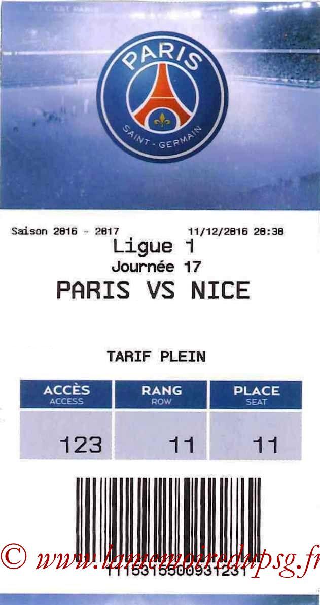 2016-12-11  PSG-Nice (17ème L1, E-ticket)