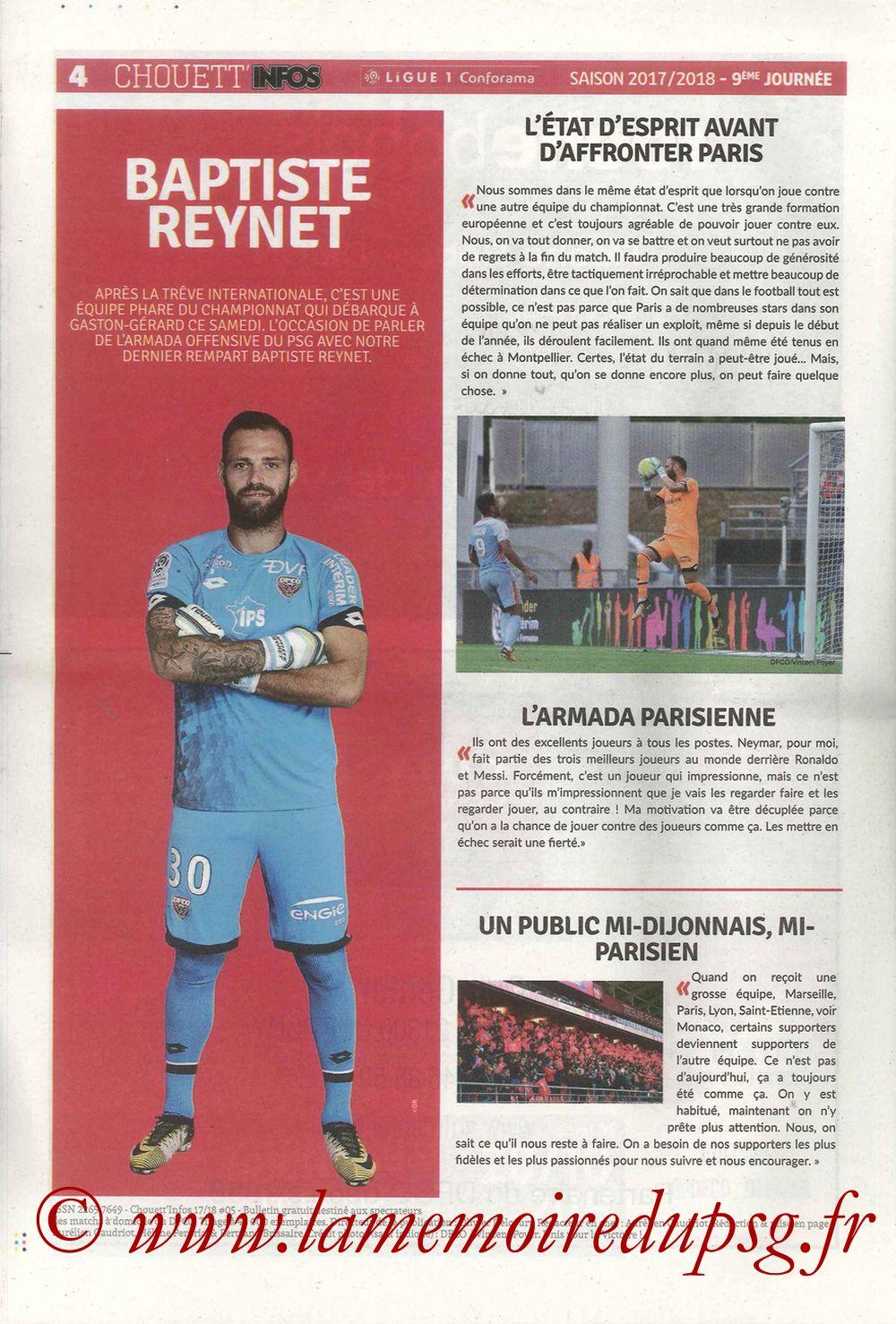 2017-10-14  Dijon-PSG (9ème L1, Chouett'Infos N°5) - Page 04