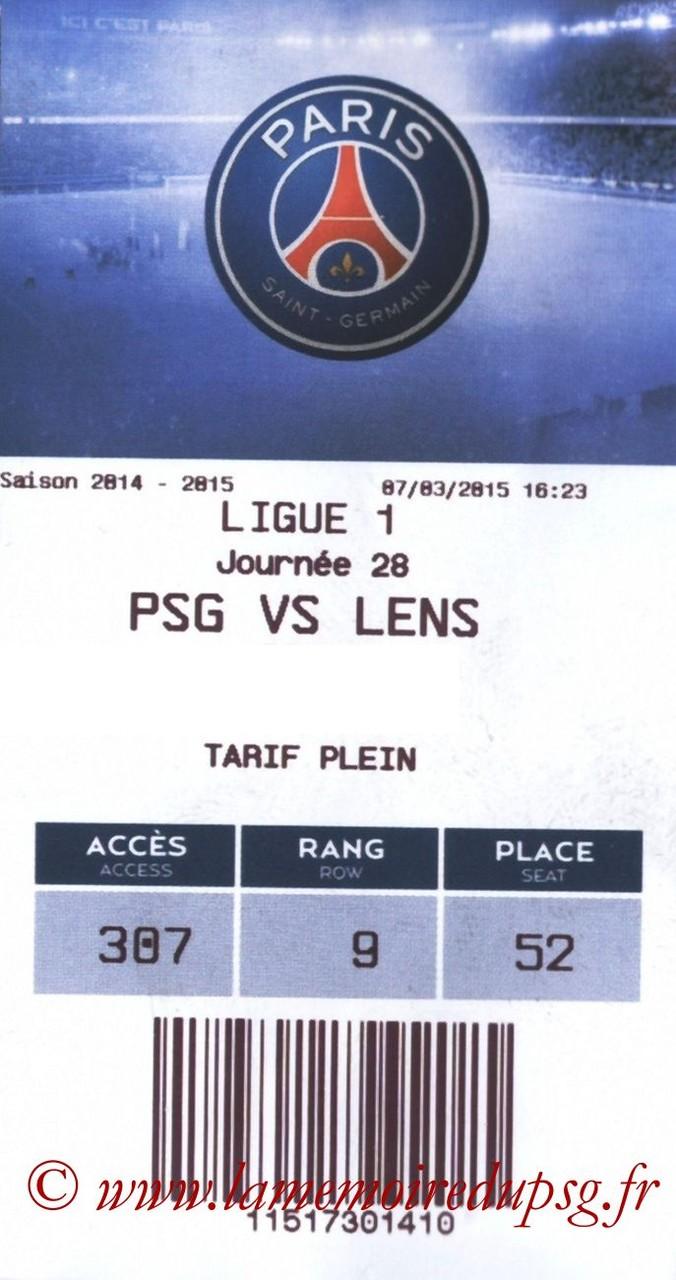 2015-03-07  PSG-Lens (28ème L1, E-ticket bis)