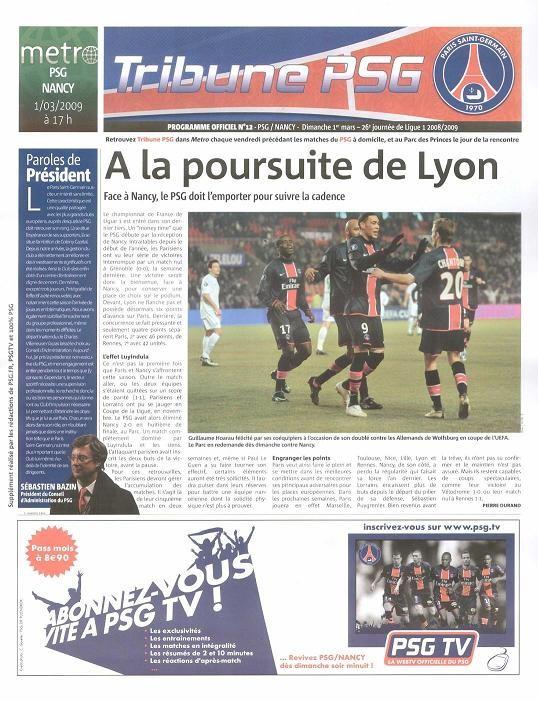 2009-03-01  PSG-Nancy (26ème L1, Tribune PSG N°12)