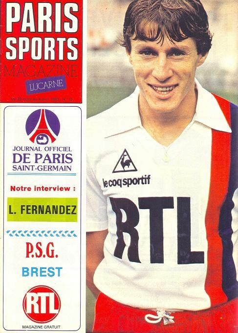 1983-03-29  PSG-Brest (29ème D1, Paris Sports Magazine N°12)