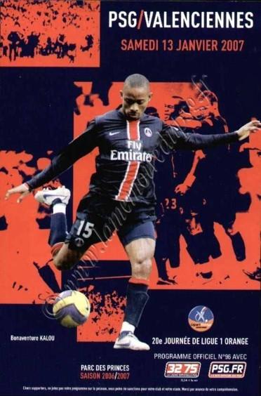 2007-01-13  PSG-Valenciennes (20ème L1, Officiel N°96)