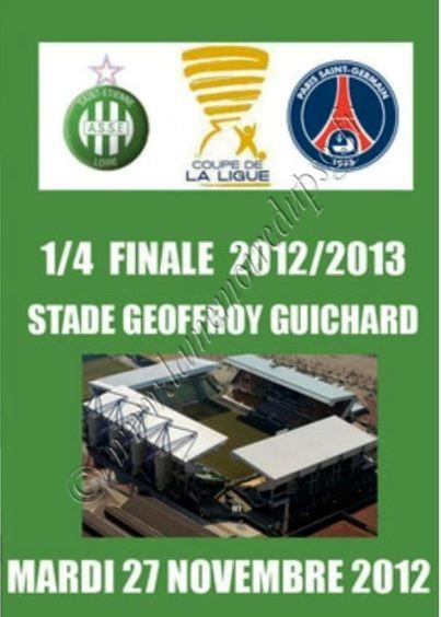 2012-11-27  Saint Etienne-PSG (Quart Finale CL, Programme pirate)