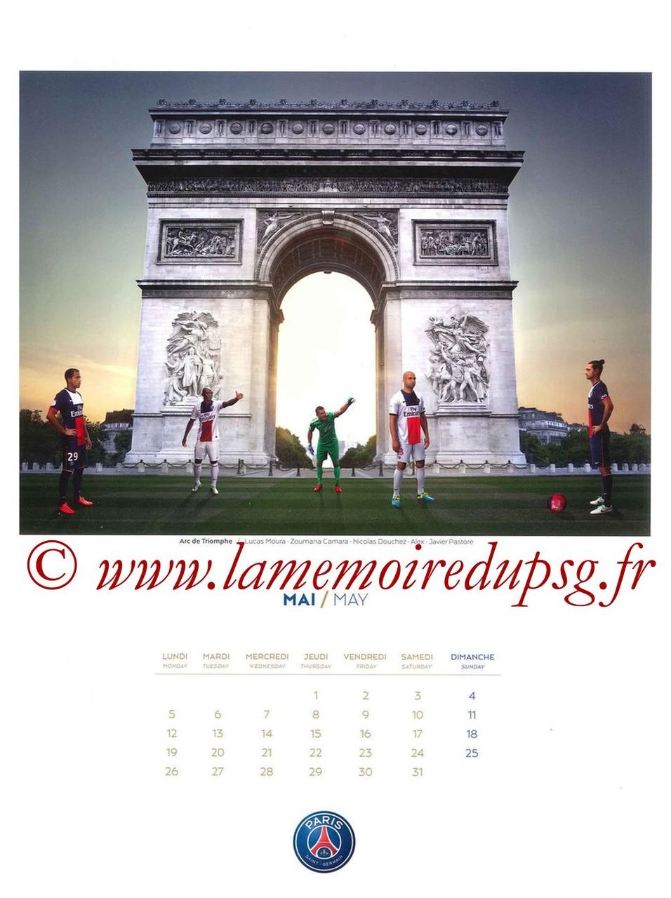 Calendrier PSG 2014 - Page 05 - Arc de Triomphe