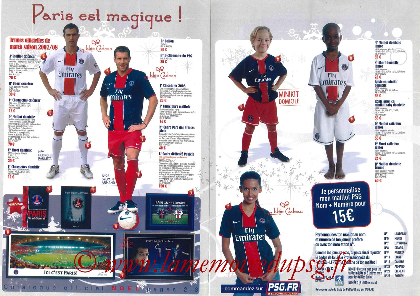 Catalogue PSG - 2007-08 - Noêl - Pages 2 et 3