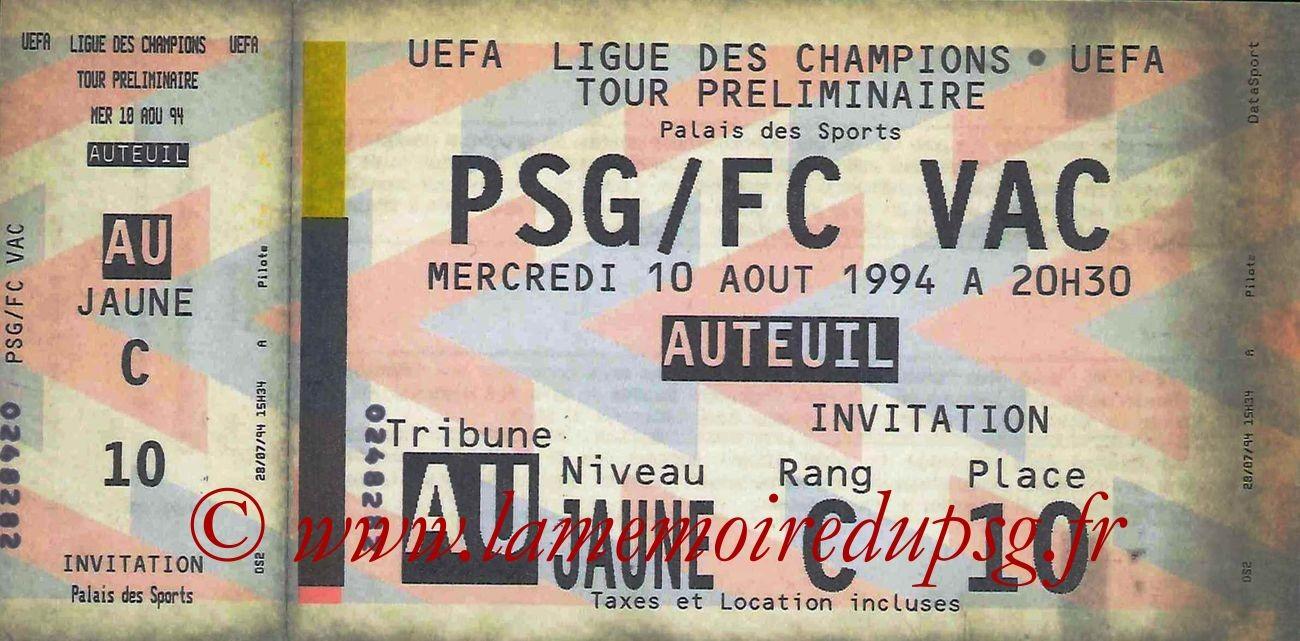 1994-08-10  PSG-FC Vac (Tour préliminaire Aller C1)