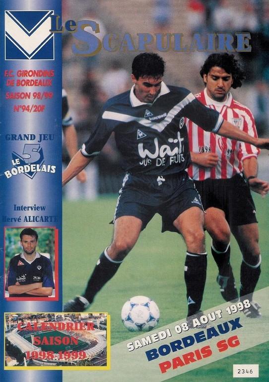1998-08-08  Bordeaux-PSG (1ère D1, Le Scapulaire N°94)