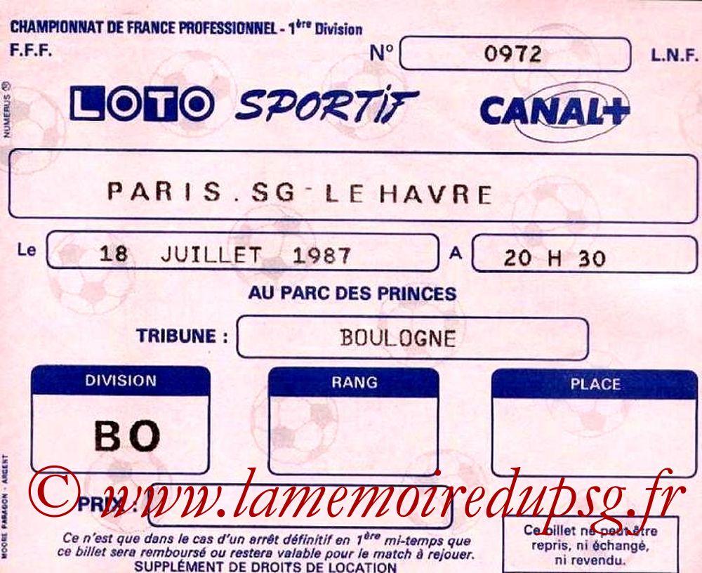 1987-07-18  PSG-Le Havre (1ère D1)