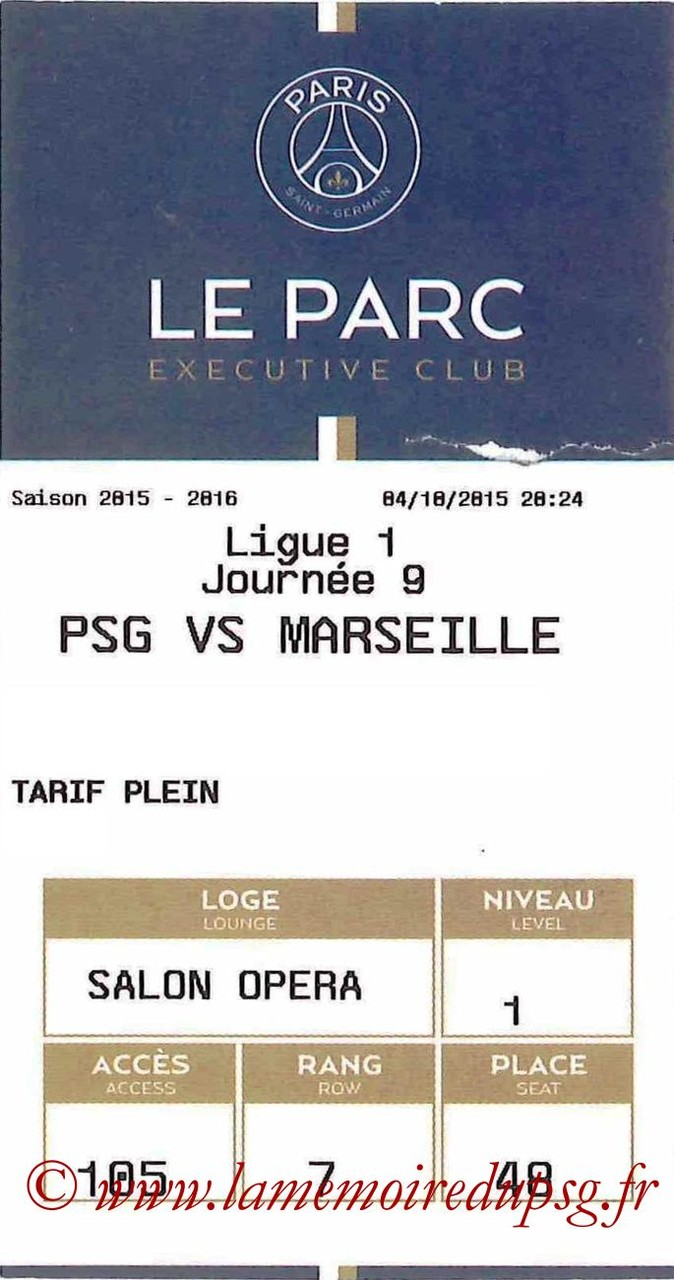 2015-10-04  PSG-Marseille (9ème L1, E-ticket Executive Club)