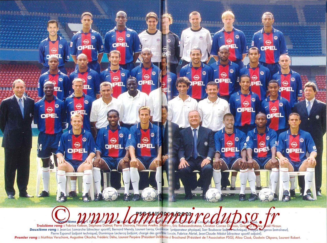 2000-01 - Guide de la Saison PSG - Pages 28 et 29