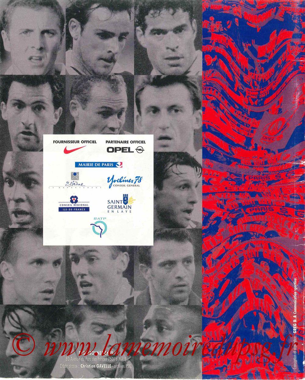 1997-98 - Guide de la Saison PSG - Pages 28