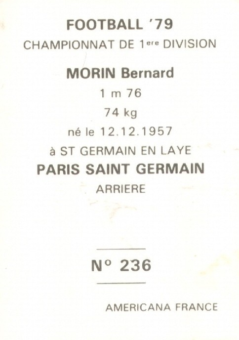 N° 236 - Thierry MORIN (Verso)