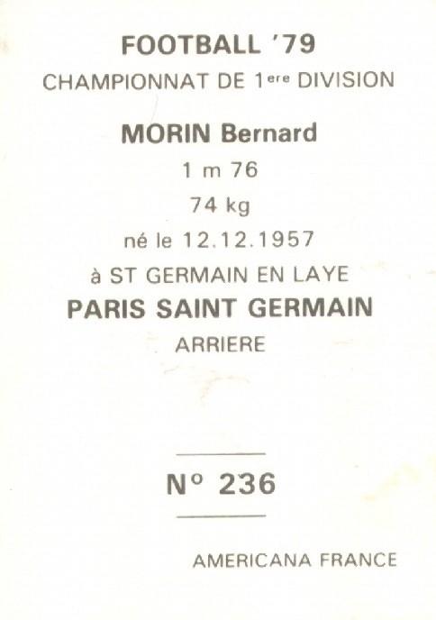 N° 236 - Thierry MORIN (Verso)