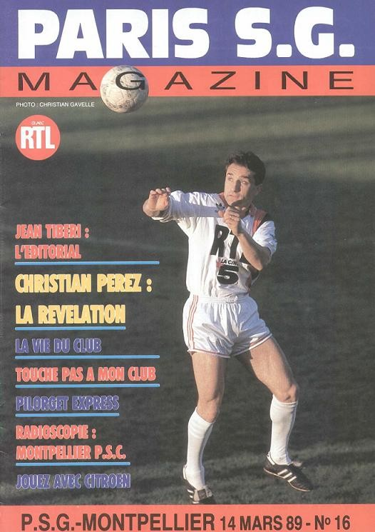 1989-03-14  PSG-Montpellier (30ème D1, Paris SG Magazine N°16)