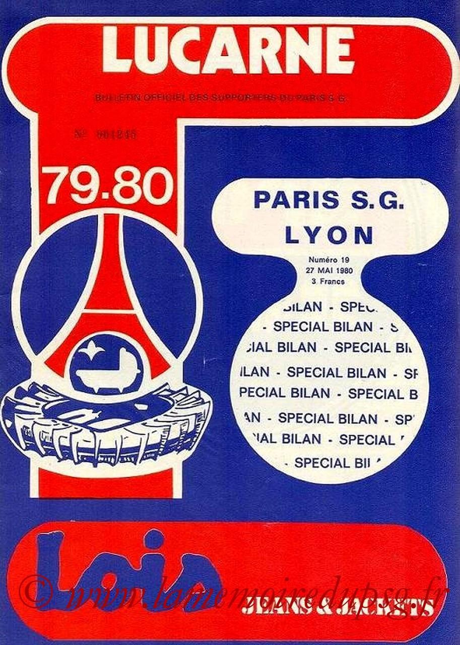 1980-05-27  PSG-Lyon (38ème D1,Lucarne N°20 indiqué N°19)