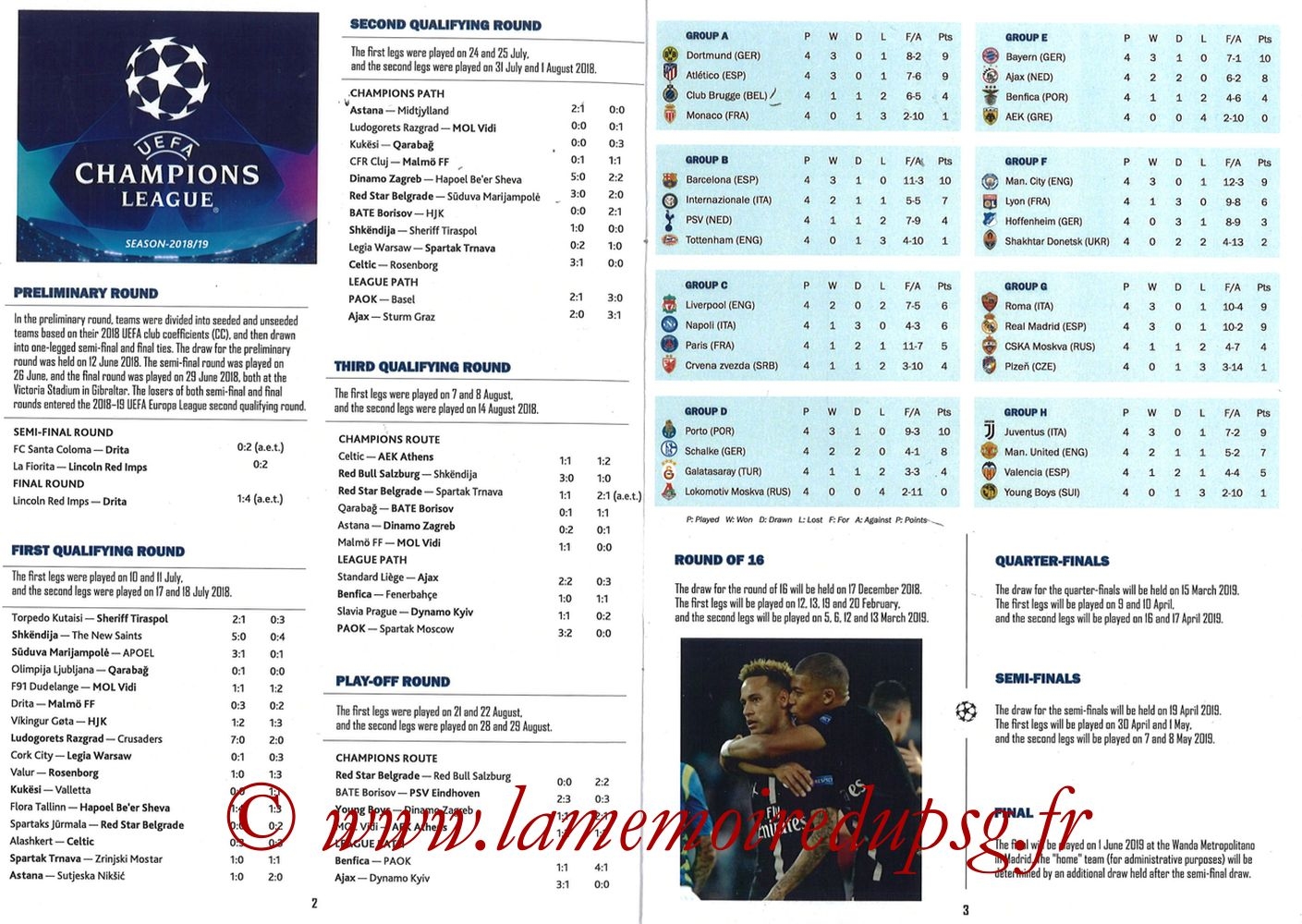 2018-11-28  PSG-Liverpool (5ème Poule C1, Programme pirate) - Pages 02 et 03