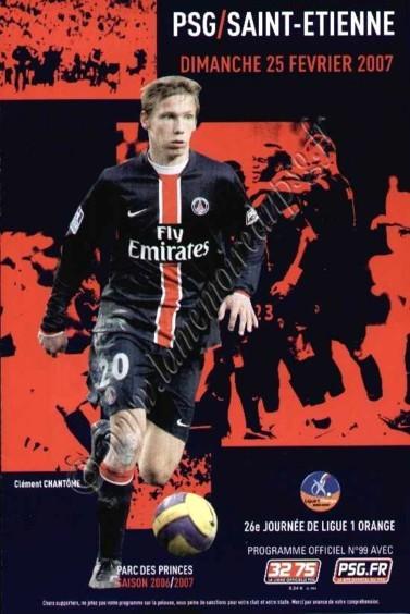 2007-02-25  PSG-Saint Etienne (26ème L1, Officiel N°99)