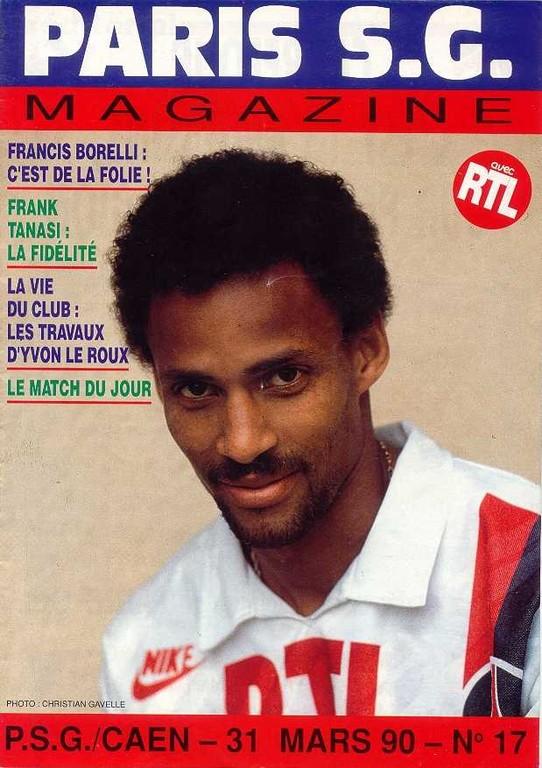 1990-03-31  PSG-Caen (31ème D1, Paris SG Magazine N°17)