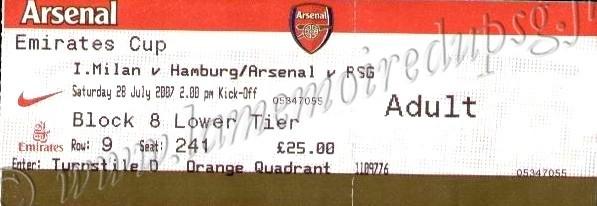 2007-07-28  PSG-Arsenal (Emirates Cup à Londres)