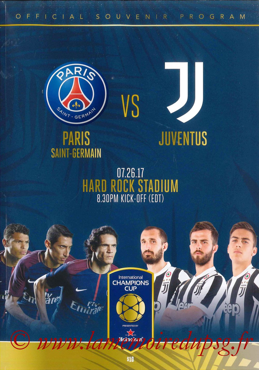 2017-07-26  PSG-Juventus (International Champions Cup, Programme officiel)