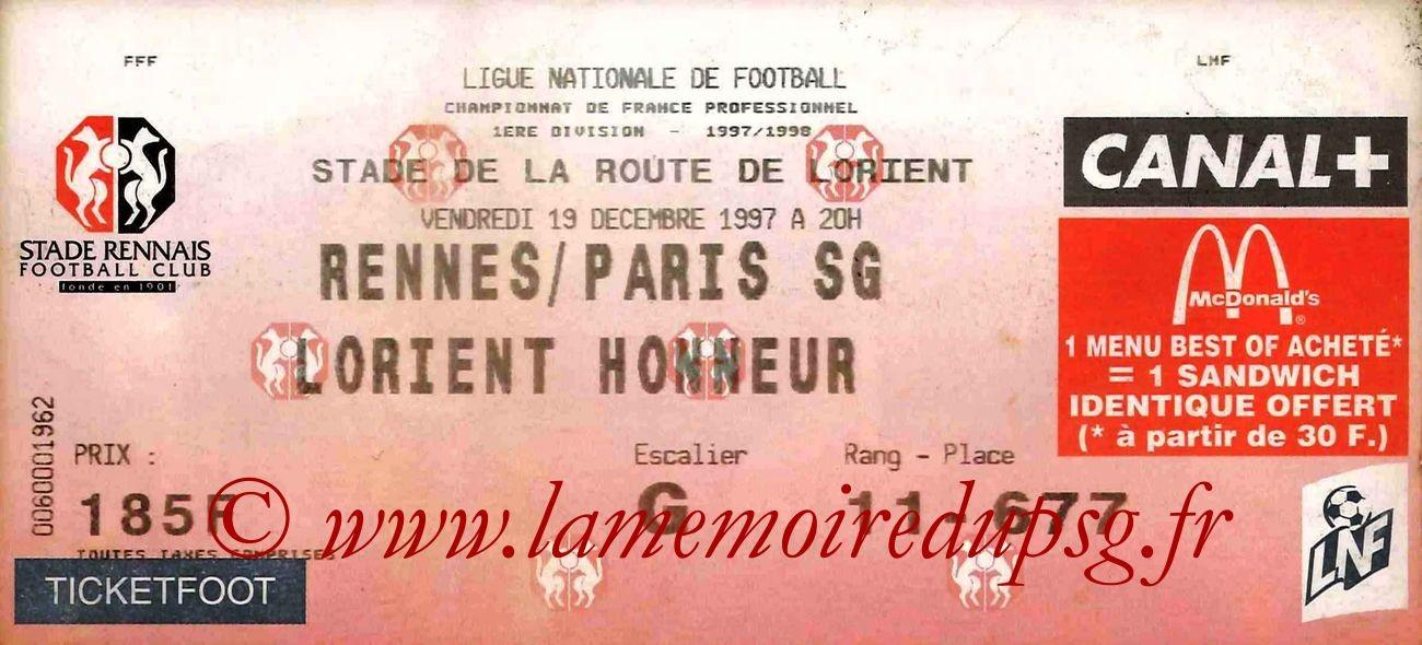 1997-12-19  Rennes-PSG (21ème D1)
