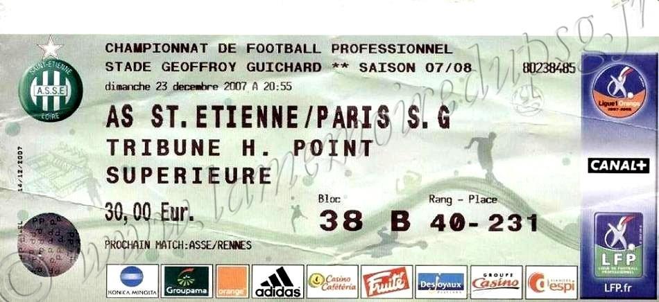 2007-12-23  Saint Etienne-PSG (19ème L1)