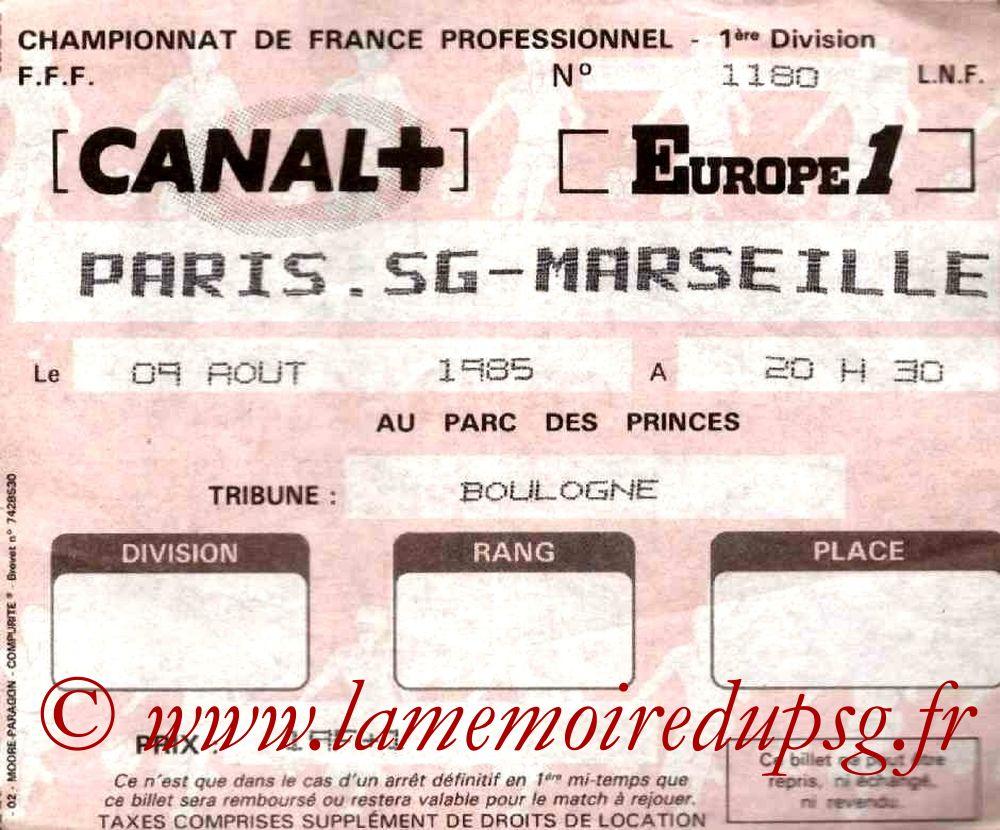 1985-08-09  PSG-Marseille (6ème D1)