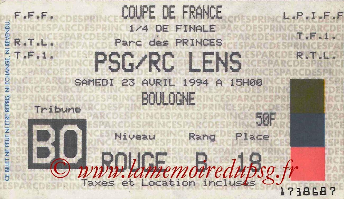 1994-04-23  PSG-Lens (Quart Finale CF)