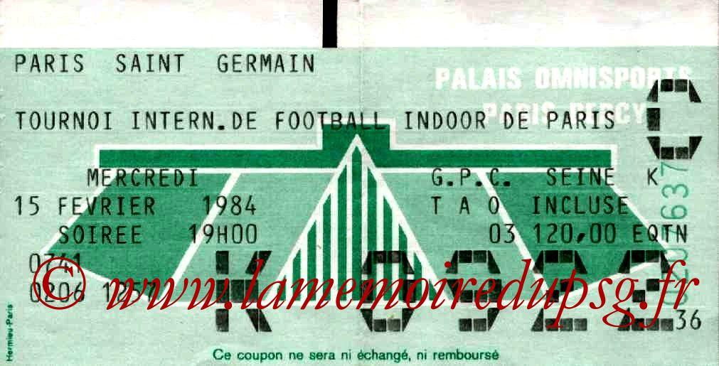 1984-02-15  PSG-Bordeaux et PSG-Fluminense (1er Tournoi Indoor de Bercy, Bis)