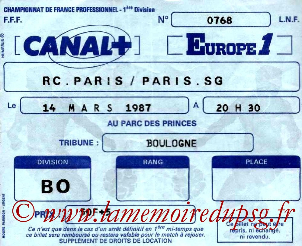 1987-03-14  Racing Paris-PSG (27ème D1)