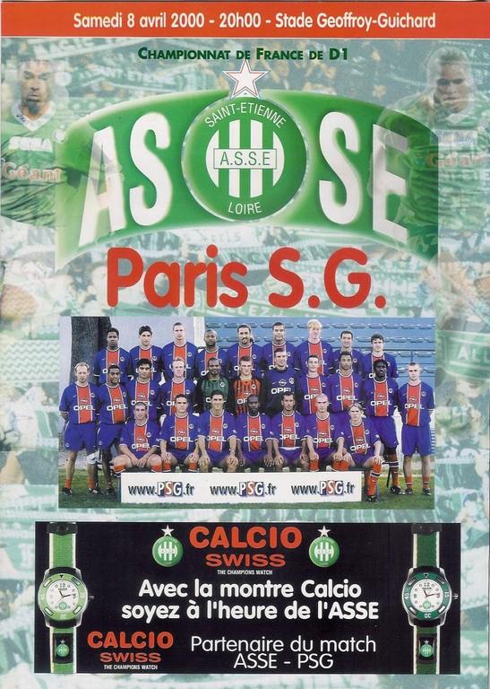 2000-04-08  Saint Etienne-PSG (30ème D1, Programme officiel)