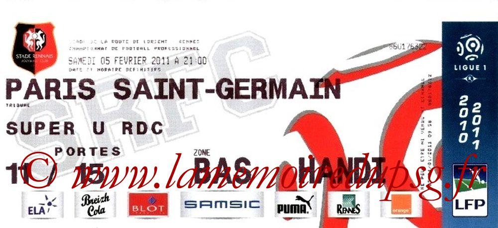 2011-02-05  Rennes-PSG (22ème L1)