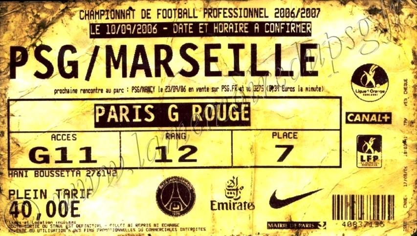 2006-09-10  PSG-Marseille (5ème L1, ter)