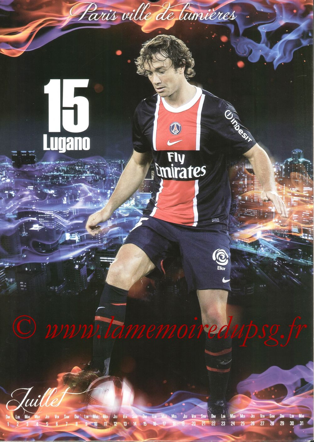 Calendrier PSG 2012bis - Page 07 - Diego LUGANO