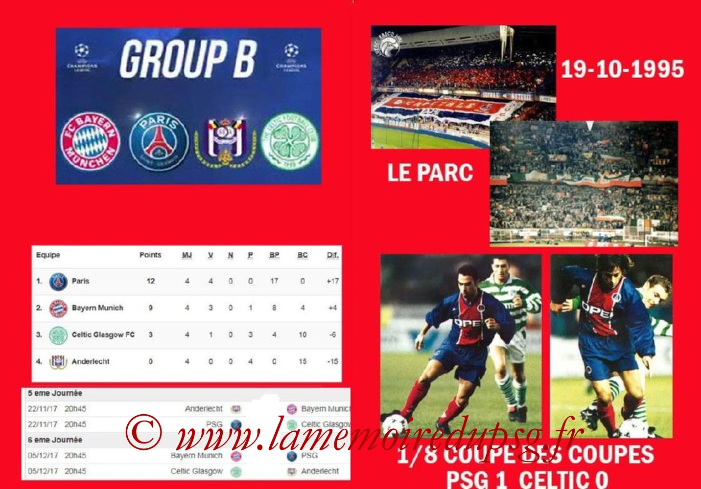 2017-11-22  PSG-Celtic (5ème C1, Programme pirate) - Pages 06 et 07