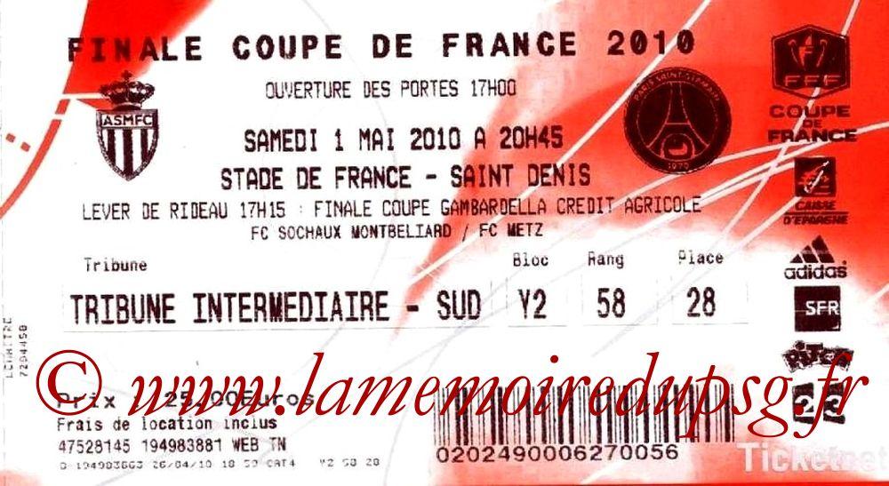 2010-05-01  PSG-Monaco (Finale CF à Saint-Denis, Ticketnet)