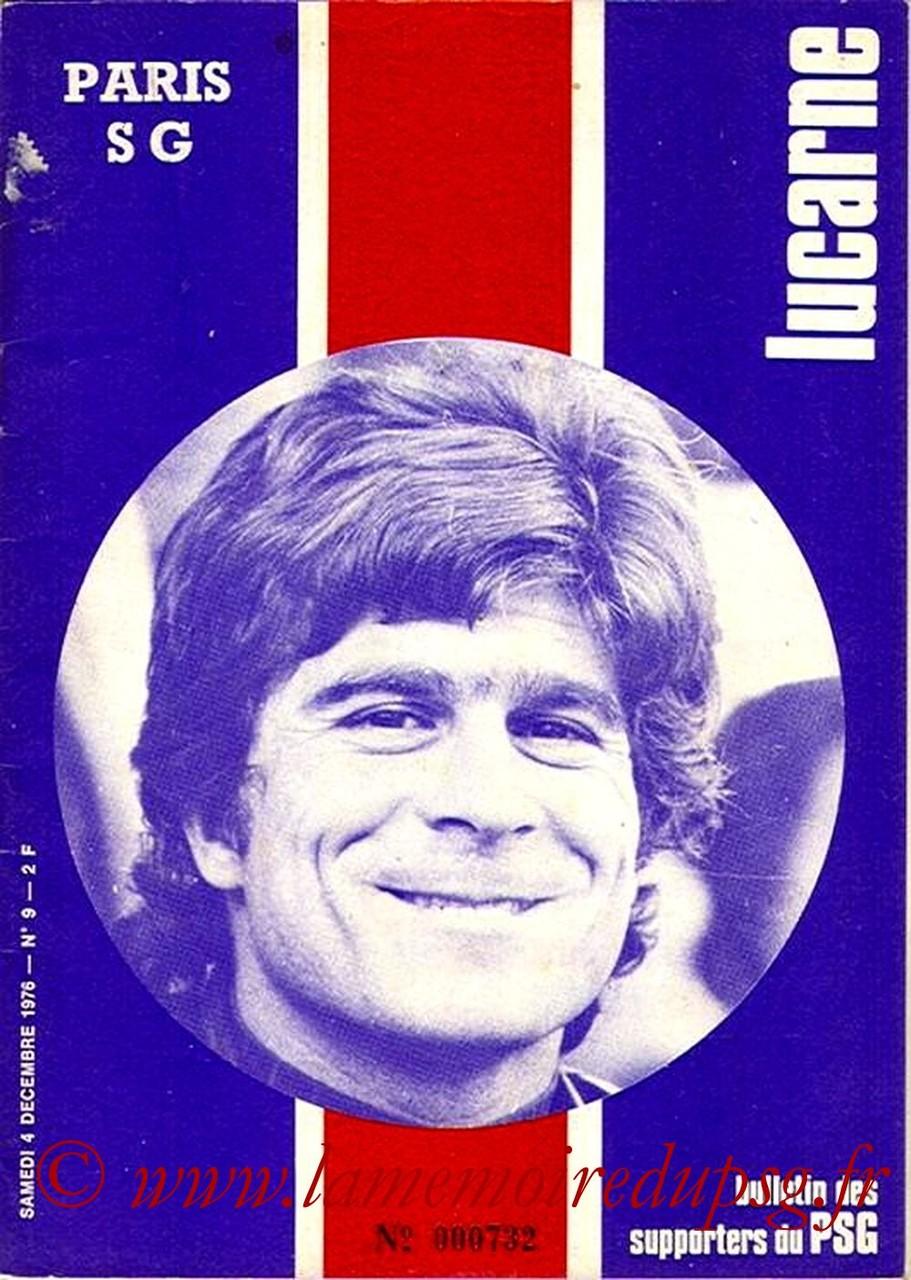 1976-12-04  PSG-Valenciennes (17ème D1, Lucarne N°9)
