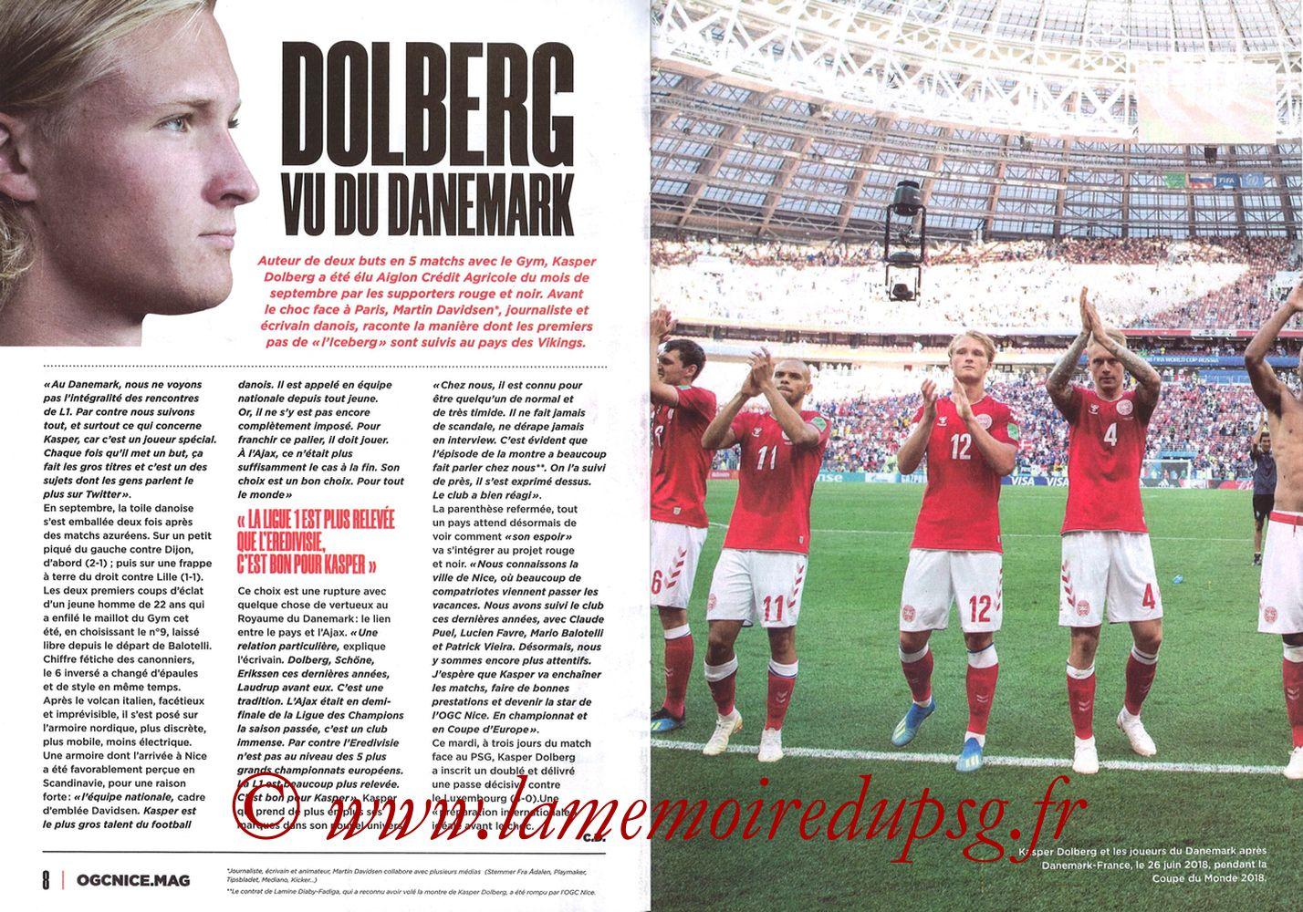 2019-10-18  Nice-PSG (10ème L1, OGCNice Mag N° 333) - Pages 08 et 09