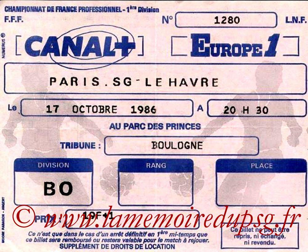 1986-10-17  PSG-Le Havre (13ème D1)